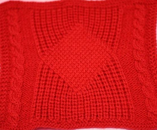 Образец узора для вязания пуловера спицами
