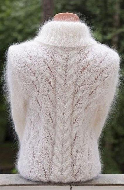 Схема вязания свитера спицами резинкой