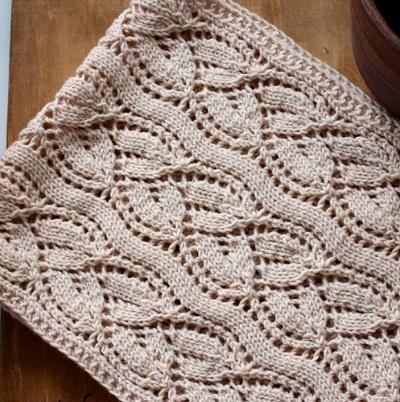 Красивый узор для вязания шарфа спицами