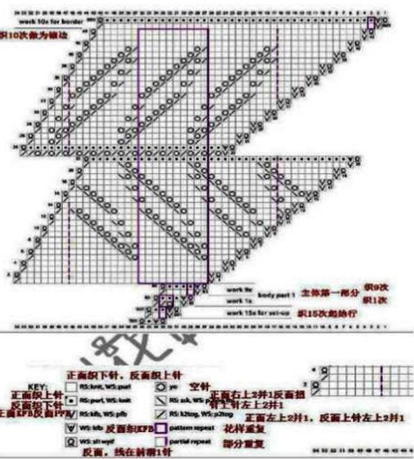 Узор бактуса - схема