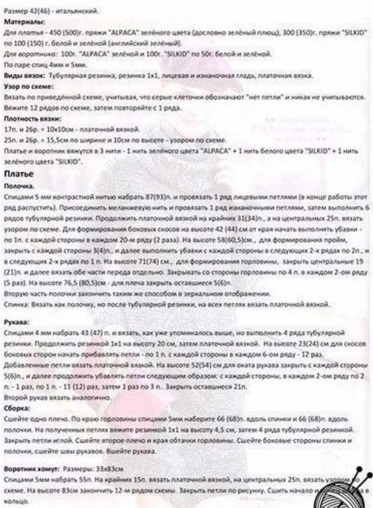 Узор с резинкой спицами - описание