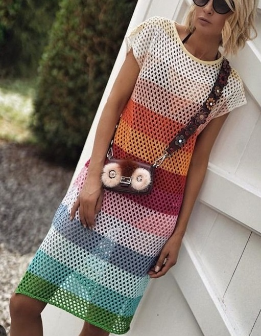 Платье узором Сетка