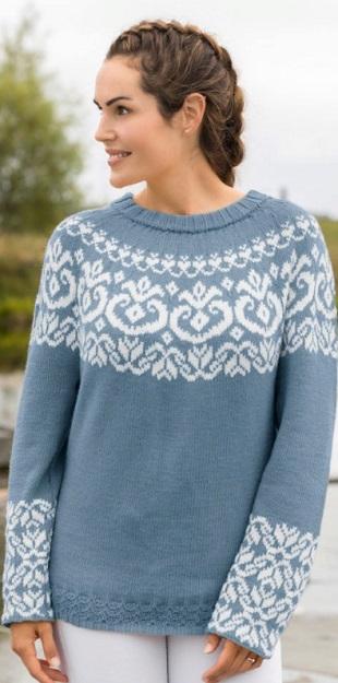 Жаккард для пуловера