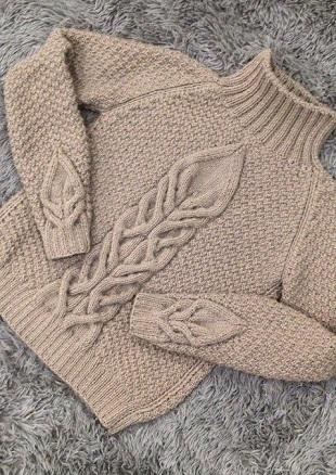 Рельефный узор для вязания свитера