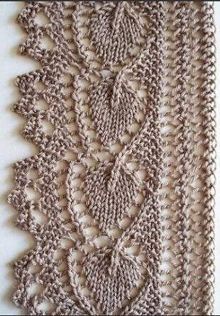 Схема ажурной каймы спицами