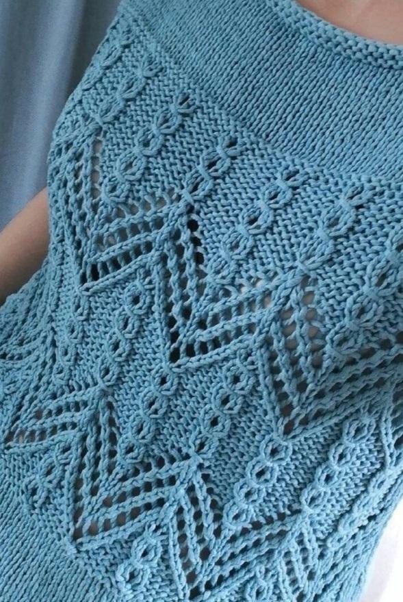 Рельефный узор для вязания топа