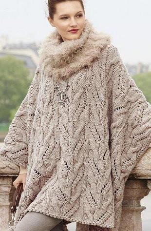 Образец вязания ажурной косы