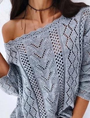 Ажур для вязания пуловера