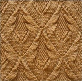 Образец вязания рельефного узора