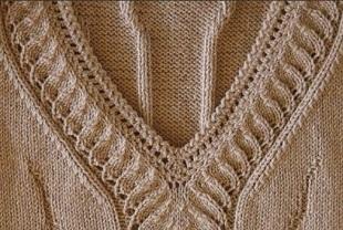 Узор для вязания горловины спицами
