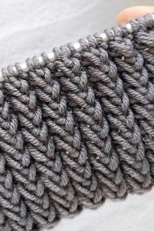 Описание вязания красивой резинки спицами