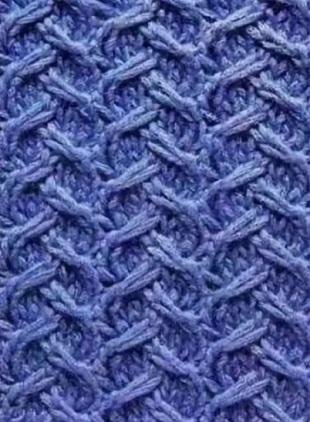 Схема вязания узора Плетенка спицами