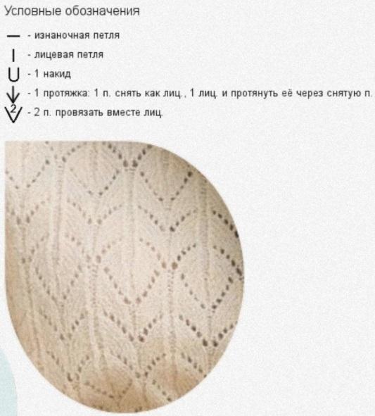 Узор для вязания ажурного джемпера спицами